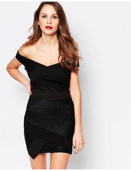 Daisy Street | Женское Чёрное Асимметричное Платье