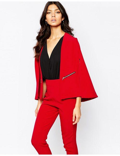 Vesper | Красный Пиджак Строгого Кроя С Разрезами На Рукавах