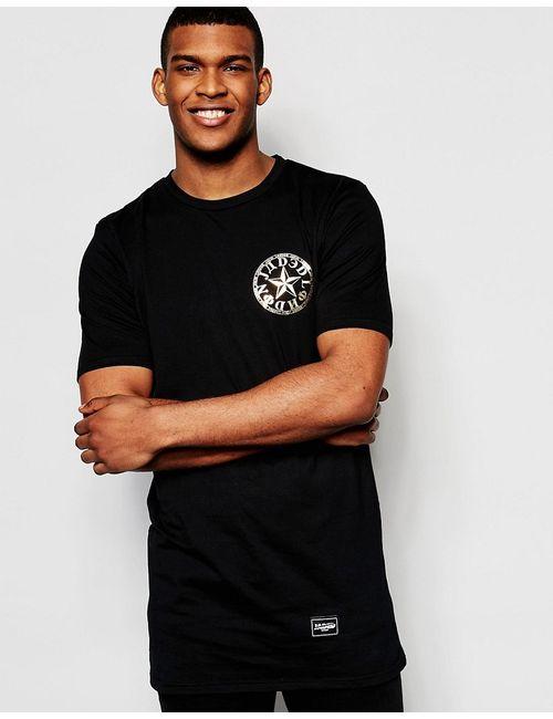 Jaded London | Мужская Чёрная Футболка С Золотистой Звездой Черный