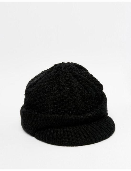 Asos | Мужская Чёрная Черная Вытянутая Шапка Черный