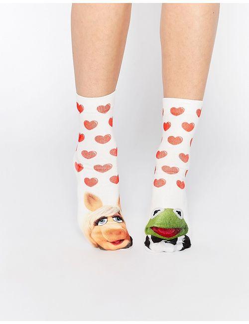 Asos | Женские Белые Носки С Персонажами Маппетшоу Kermit И Miss