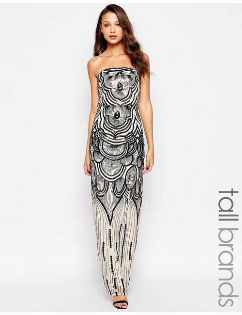 Little Mistress Tall | Женское Кремовое Платье Макси С Декоративной Отделкой