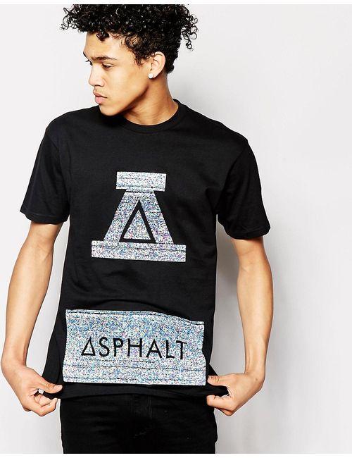 Asphalt Yacht Club   Мужская Чёрная Футболка С Логотипом