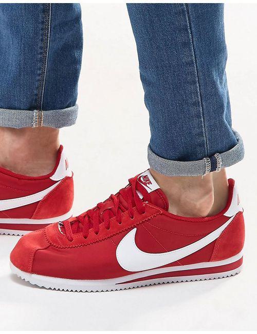 Nike   Мужские Красные Нейлоновые Кроссовки Classic Cortez 807472-611 Красный