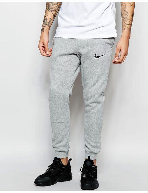 Nike | Серые Облегающие Спортивные Штаны С Логотипом-Галочкой 727766-063