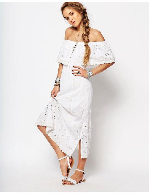 Free People | Слоновая Костящее Платье Миди Most Beautiful