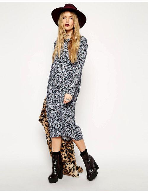 Reclaimed Vintage | Женское Многоцветное Платье Миди С Принтом Asos