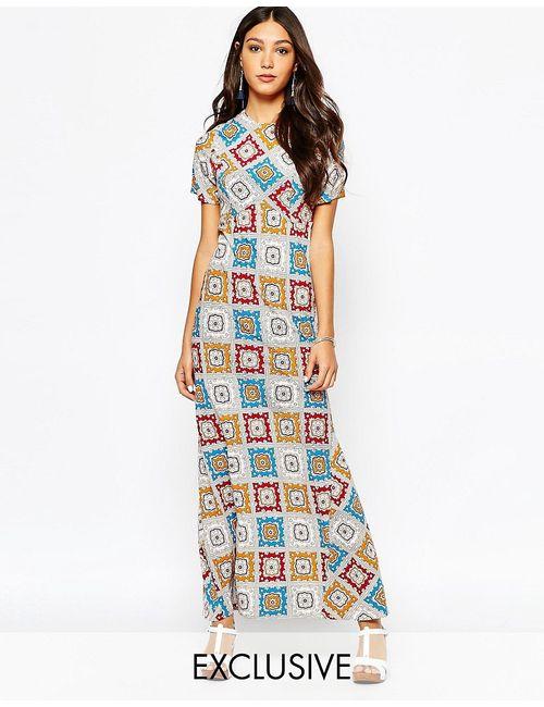 Fallen Star | Марокканский Ковер Вшее Платье Миди С Принтом Пейсли