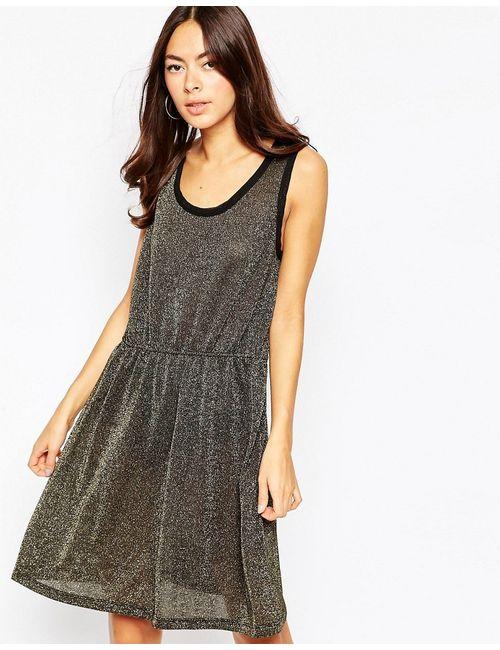 Vila | Женское Черный Платье С Блестками