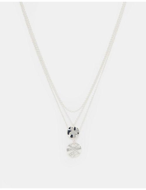 Asos   Многоярусное Ожерелье С Монетками Серебряный