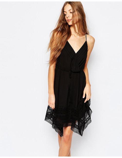 Greylin | Женское Чёрное Платье Асимметричной Длины Mulani