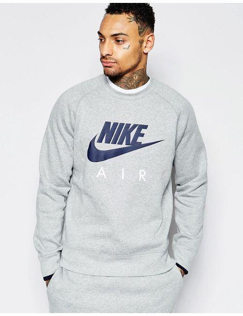 Nike | Мужские Серые Свитшот С Круглым Вырезом 727385-063