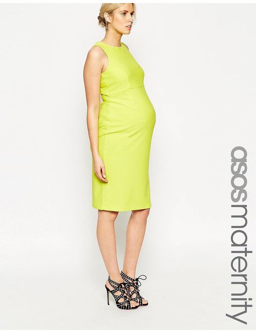 ASOS Maternity | Женское Фактурное Облегающее Платье С Вырезом На Спине