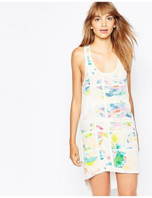 Suboo | Женское Принт Шелковистое Платье С Цветочным Ом Pop