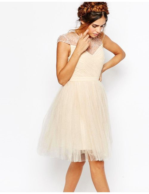 Little Mistress | Короткое Приталенное Платье Со Сборками На Лифе
