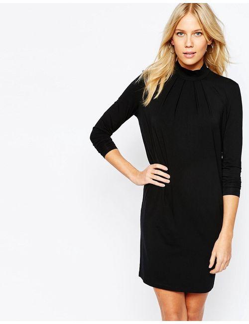 Y.A.S. | Женское Чёрное Платье С Воротником-Трубой Y.A.S Othel