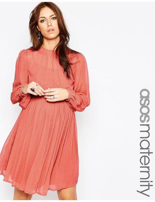 ASOS Maternity | Женское Терракотовое Платье Бэби-Долл Для Будущих Мам Терракотовый