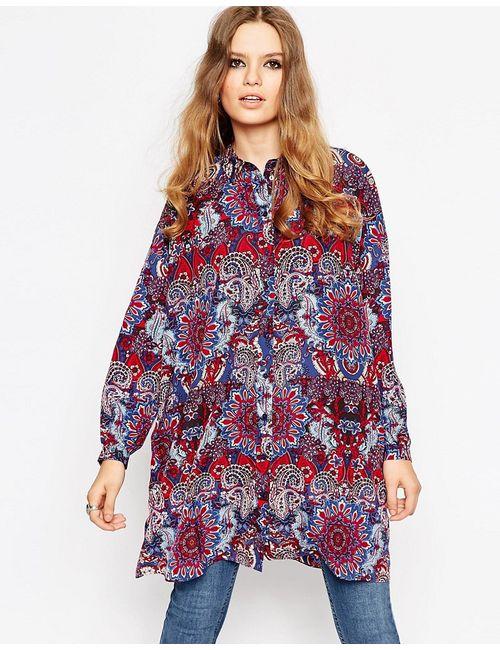 Asos | Многоцветная Oversize-Блузка С Принтом Пейсли
