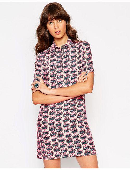 ASOS Africa | Женское Многоцветное Платье С Воротником-Поло И Принтом Love Asos
