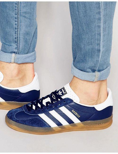 Adidas   Мужские Синие Кроссовки Gazelle Синий