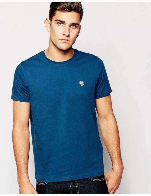 Paul Smith | Мужская Синяя Футболка Классического Кроя С Логотипом