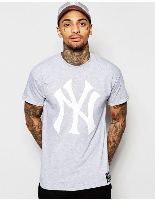 Majestic   Мужская Серая Футболка С Логотипом Yankees