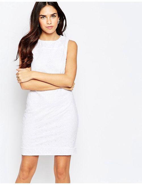 Poppy Lux | Женское Белое Ажурное Платье Rozalia