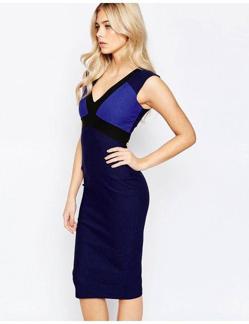 Vesper | Платье-Футляр С Контрастной Отделкой