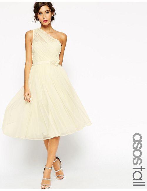ASOS TALL   Белое Платье На Одно Плечо Wedding