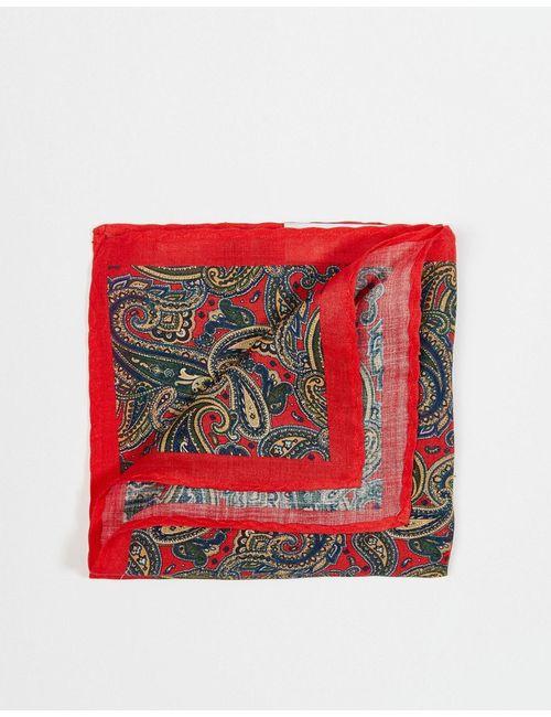 Selected Homme | Красный Платок Для Нагрудного Кармана С Принтом Пейсли