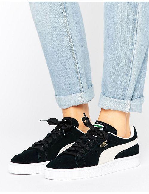 Puma | Женские Чёрные Черные Классические Кроссовки Из Замши Черный