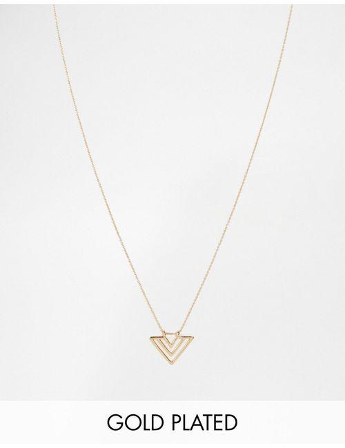 NYLON | С Золотым Покрытие Позолоченное Ожерелье С Подвеской-Стрелой