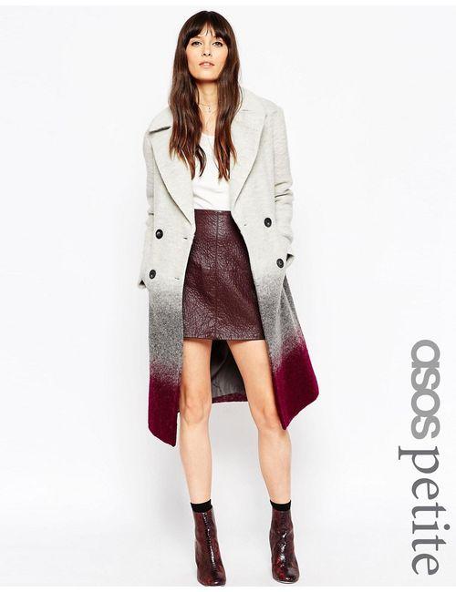 ASOS PETITE | Многоцветное Oversize-Пальто С Эффектом Омбре
