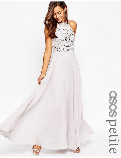 ASOS PETITE | Женское Фиолетовое Платье Макси С Вырезами Сиреневый