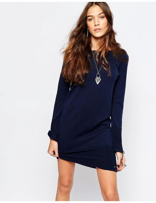 Esprit | Женское Синее Трикотажное Платье