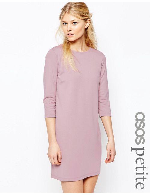 ASOS PETITE | Женское Фиолетовое Цельнокройное Платье С Рукавами 3/4 Сиреневый