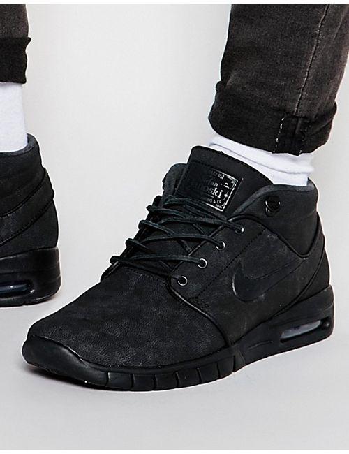 Nike SB | Мужские Чёрные Кроссовки Средней Высоты Nike Stefan Janoski Max