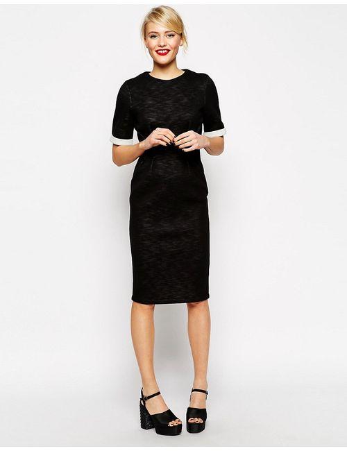 Asos | Черный Фактурное Меланжевое Платье