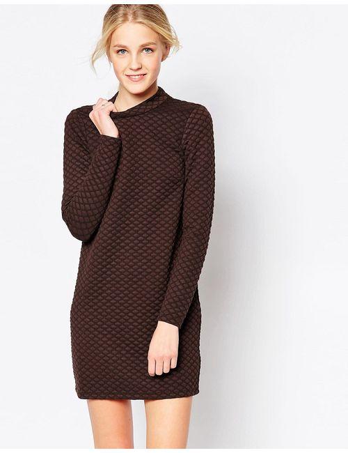 JDY | Женское Fudge Стеганое Цельнокройное Платье С Длинными Рукавами