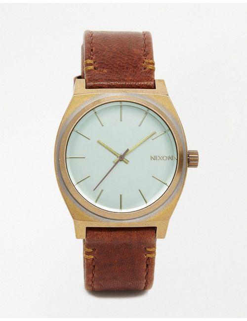 Nixon | Мужские Коричневые Часы Time Teller Peninsula