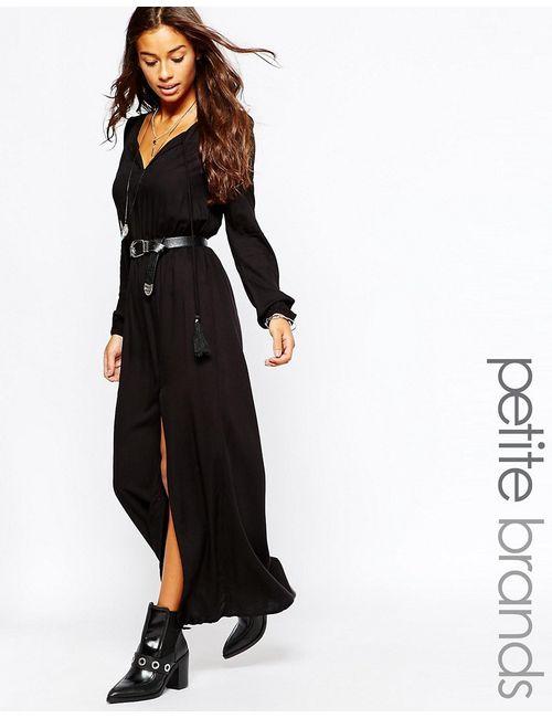 Vero Moda Petite | Женское Черный Платье Макси С Длинными Рукавами