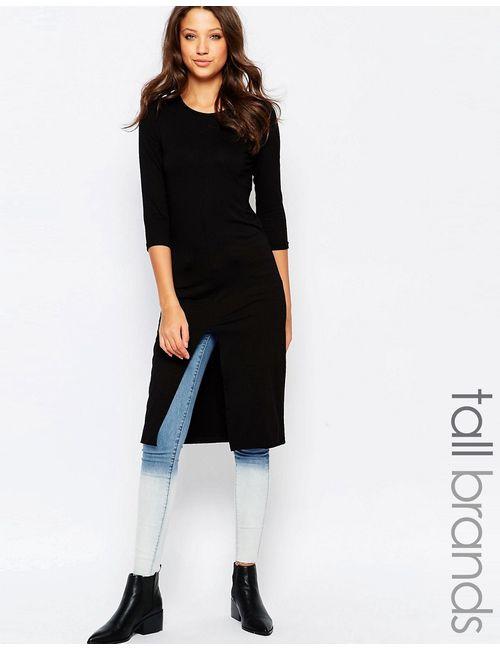Vero Moda Tall | Женский Чёрный Топ С Разрезом Спереди Черный