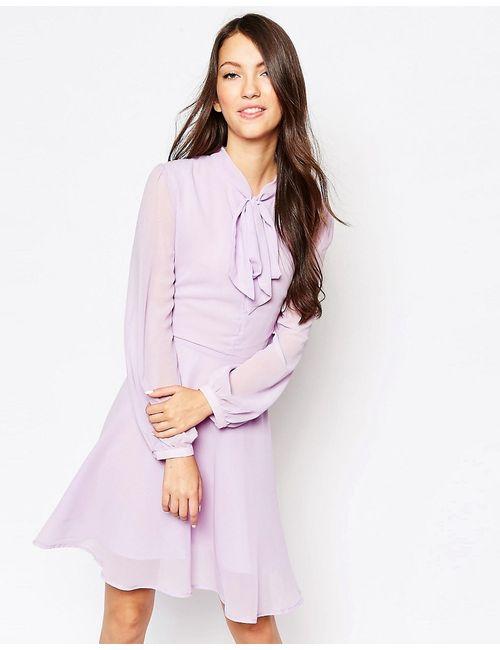 Glamorous | Женское Фиолетовое Платье С Бантом