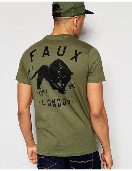 Friend or Faux | Мужская Зелёная Футболка С Принтом