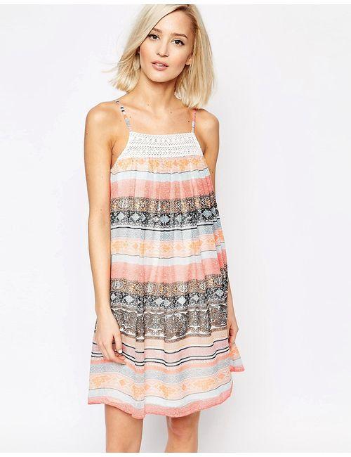Vero Moda | Женское Розовая Дымка Свободное Платье Boho