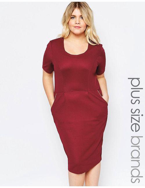 Goddiva plus | Женское Красное Платье На Молнии Красный