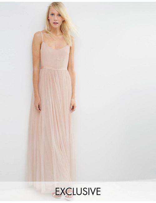 Needle & Thread | Женское Бежевое Платье Макси Giselle Ballet Rose Beige