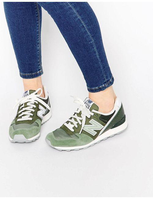 New Balance | Женские Зелёные Зеленые Кроссовки Цвета Хаки 996 Зеленый