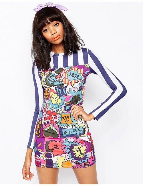 House Of Holland | Многоцветное Платье Мини С Принтом