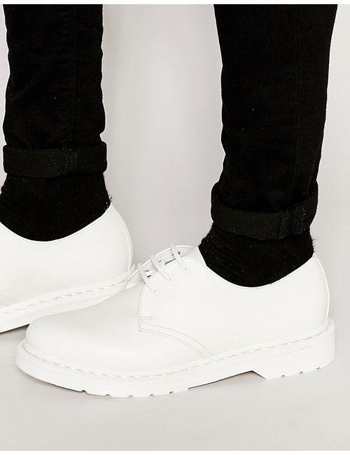 Dr. Martens | Мужские Белые Туфли С 3 Парами Люверсов Dr Martens